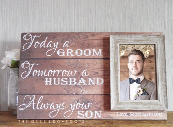 Unique Parent Wedding Gift Ideas: Gift For Grooms Parents Thank You Wedding Gift Parents Of