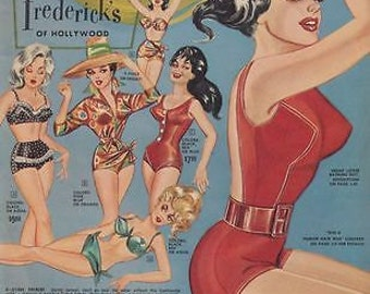 1950's Fredericks of Hollywood A3 Poster Reprint