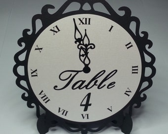 New Year's Eve Wedding Clock Table Numbers - NYE Wedding Table Numbers