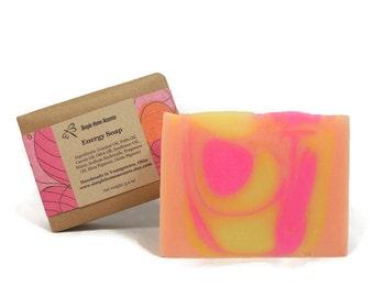 Energy Soap, Sweet Citrus Soap, Handmade Soap, Vegan Soap, Gift under 10