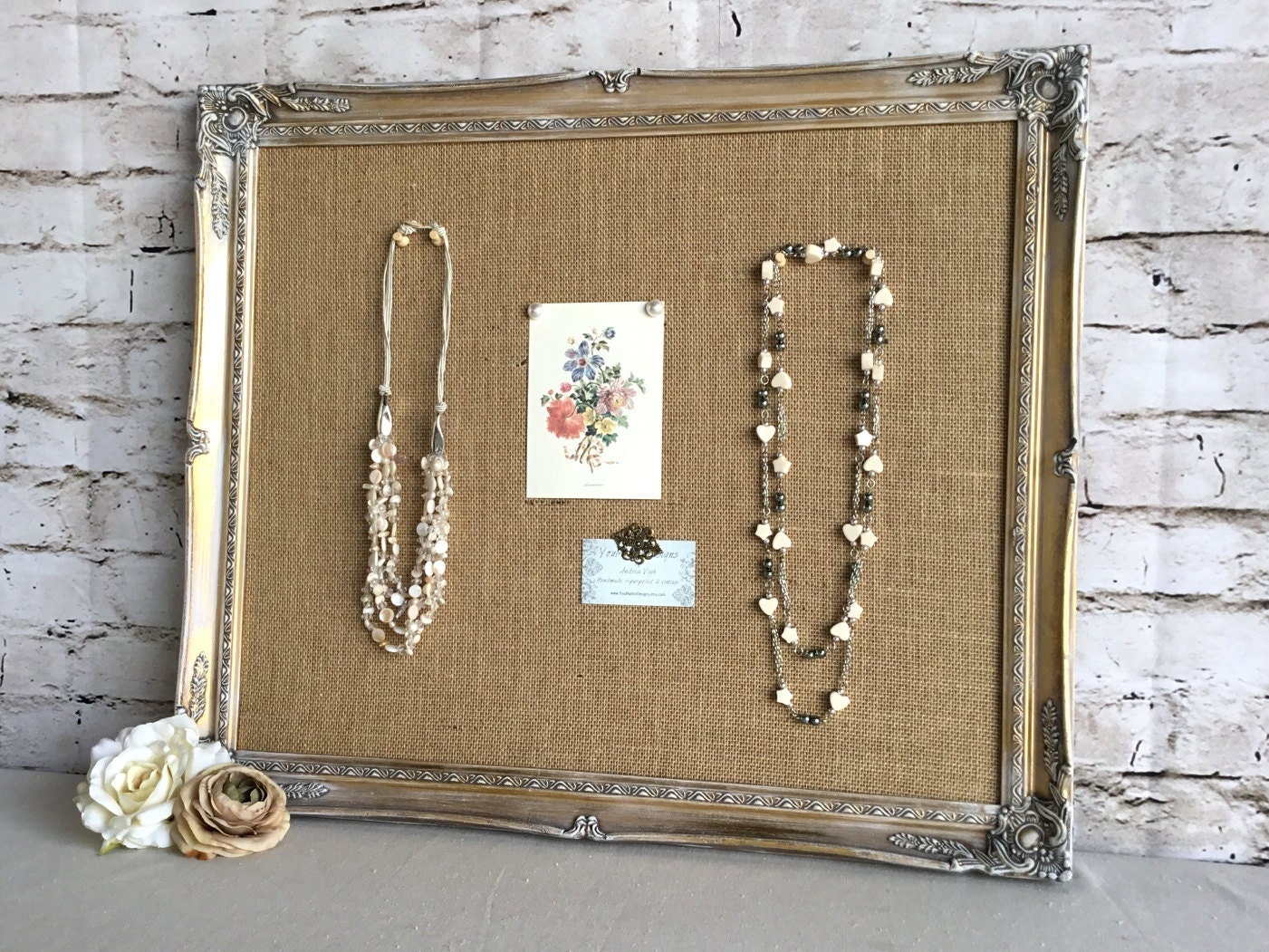 Large Frame Bulletin Board Framed Cork Board Shabby Chic