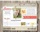 30% OFF Senior Marketing for Photographers - Instant Download - Senior Facebook Cover Plus Profile Image Plus Tab Template - FB Template PSD