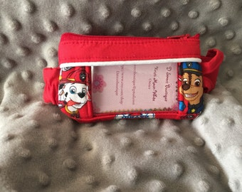 Paw Patrol Insulin Pump Pouch with a Clear Vinyl Screen
