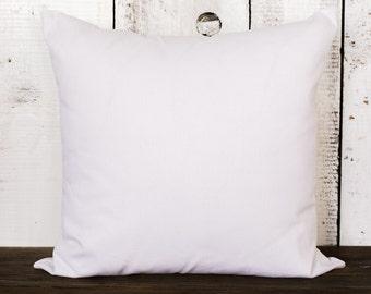 "Wholesale Pillow | Bright White|  14"" Square | Set of 10"