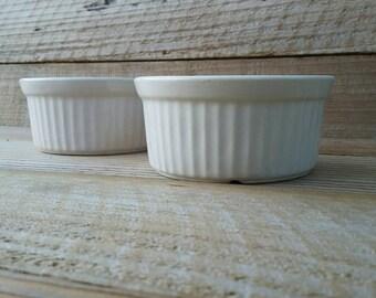 Set of 2 Bisque White Ramekins