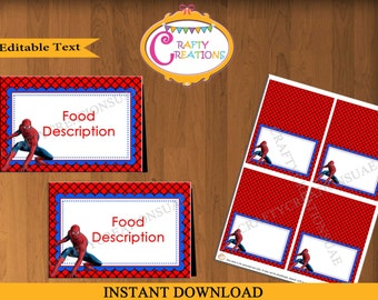 Instant Download - Spiderman Food Tent Cards - Spiderman Food Labels - Spiderman Birthday Party -  sc 1 st  Etsy & Instant Download Tinkerbell Food Tent Cards Tinkerbell Tent