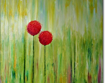 Large Giclee Print Acrylic Painting Abstract Canvas Art Floral Print CONTEMPORARY GICLEE PRINTS Wall Art Home Decor Abstract Print On Canvas