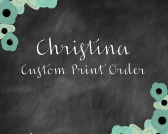 Christina Holiday Shopping Cart Custom Design--Deposit