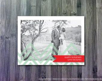 Chevron Stripe Holiday Photo Card (HC3)