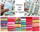 Fabric Business Card Holder, Business Card Case, Adult Gift, Facebook Special Offer