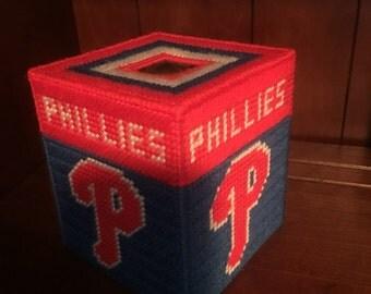 Baseball Tissue Box Etsy