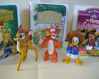 Bambi, The Three Caballeros, & The Many Adventures of Winnie the Pooh figures from Happy Meals