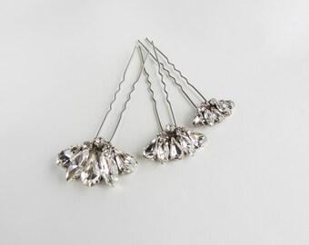 Swarovski Crystal Hair Pins/ Hair Pins/ Bridal Hair Accessories/ Wedding Hair Accessories/ Bridal hair pin
