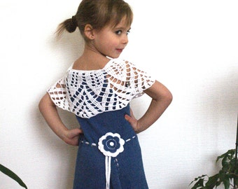 Knit toddler dress, cotton dress for girls, knit outfits for toddler