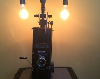 Antique toy projector steampunk lamp