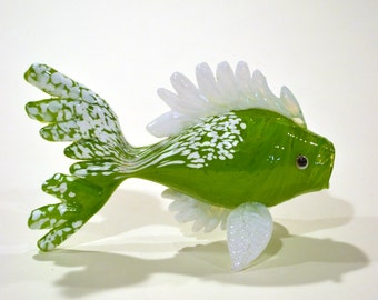 Small Candy Apple Blown Glass Fish