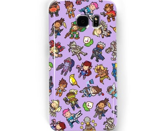 Chibi Overwatch Pattern ~ Blizzard ~ iPhone / Samsung Galaxy Phone Case Cover