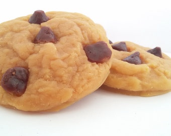 Chocolate Chip Cookie Wax Tarts - 2 Pk, Cookie Tarts, Cookie Wax Melts, Chocolate Chip cookies, Fake cookies, Food Tarts, Scented