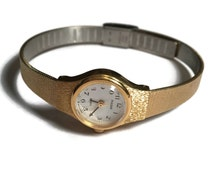 Pulsar Watch, Wrist Watch, Ladies Watch, Engraved, Goldtone, Time, Clock, Time Piece