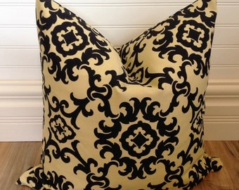 Black and Tan Pillow Cover