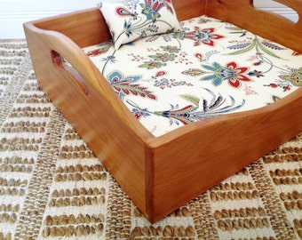 Cedar Wood Cat or Dog Bed with Cushion