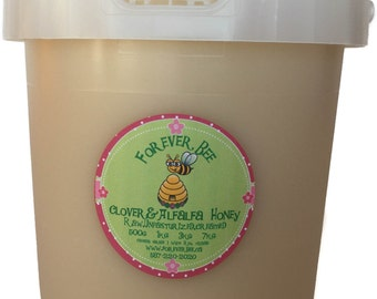 Raw, creamed Clover Honey