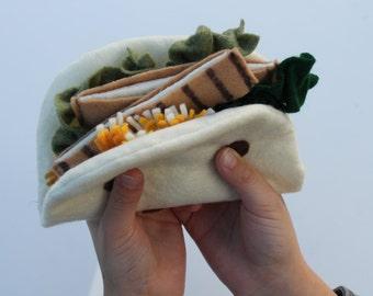 Felt Food Felt Tacos Play Food 14 Piece Play Set