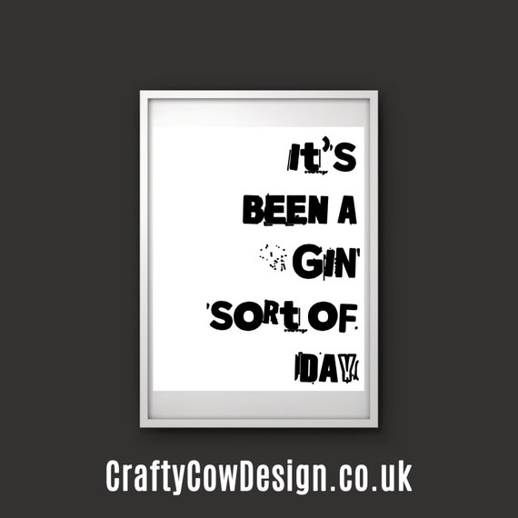 Quirky Kitchen Artwork: Items Similar To Quirky Art Print, Gin Print, Kitchen Wall