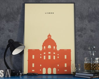 National Pantheon, Lisbon, Portugal Print. Poster.