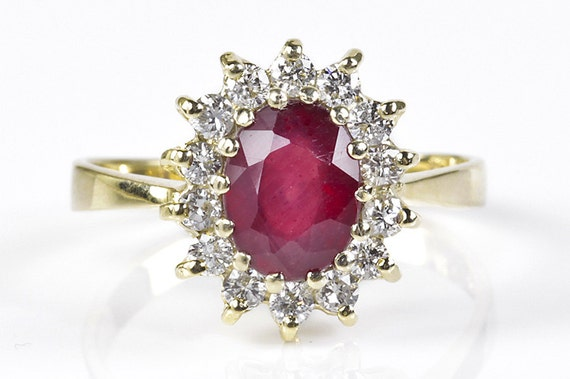 Diamond ring with Ruby-Engagement Ring