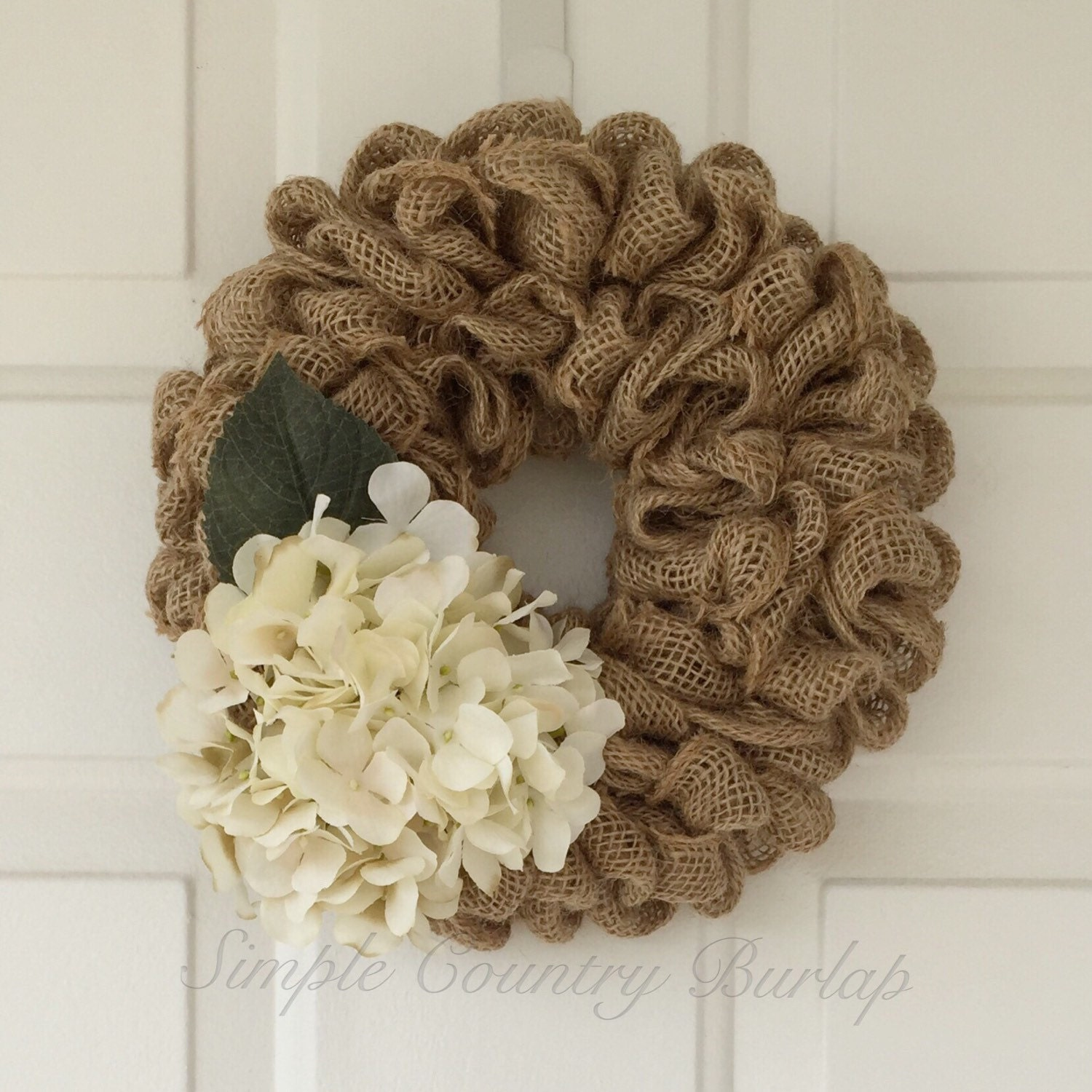 Mini burlap wreath light brown ruffle burlap wreath accented for Burlap wreath with lights