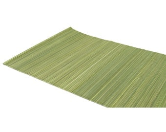 """Olive Green Bamboo Table Runner 13"""" x 72"""" Home & Kitchen, elegant looking, Table runner, modern look. Other colors AVAL (BAR01-xx)"""