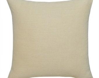 Natural linen Cushion Covers. Linen Pillow Covers.