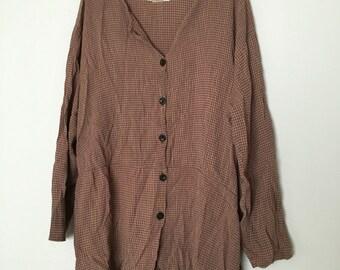 Womens gingham tunic top