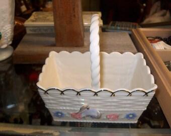 Vintage Lenox Basket w/ Flowers & Butterfly, WAS 28.00 - 25% = 21.00