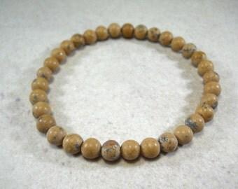 Natural Jasper 6mm Bead Bracelet, Men's Bracelet, Men's Jewelry, Gift for men, Women's Bracelet