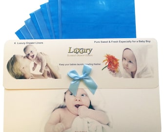 Especially for Baby Boy's Scented Luxury Drawer Liners Helps to keep your laundry smelling fresher for longer
