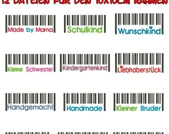 Funny bar codes for the border 10x10cm