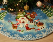 Quilted Tree Skirt - Personalized Tree Skirt - Christmas Tree Decor - Christmas Tree Skirt - Holiday Home Decor - Christmas Home Decor