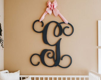 Wooden Monogram Home Decor-Wedding Monogram-Unpainted Wall