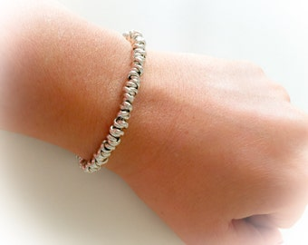 Bracelet with knots and aluminum closures T 925 silver