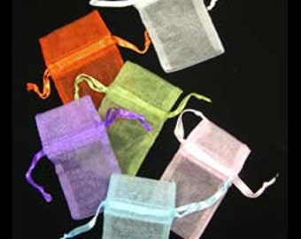 """Organza Drawstring Pouches Assorted Colors 1-3/4""""x2"""" (Pack of 72) (DBX1291M)"""