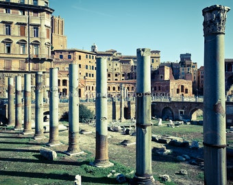 Roman ruins of the Roman Forum, Rome, Italy