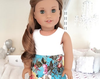 18 inch doll floral shorts