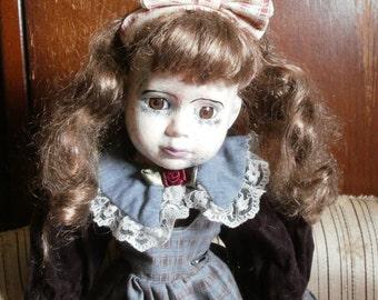 OAAK repainted Porcelain Creepy Horror Doll Natalia.