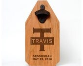 Best Man Beer Bottle Opener Wood Sign - Rustic Groomsmen Gift