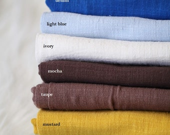 Cotton Linen Natural Texture Fabric for Baby Newborn Photography Backdrop hanging Photo Prop