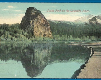 Vintage Postcard - Castle Rock on the Columbia River Between Washington and Oregon  (1842)