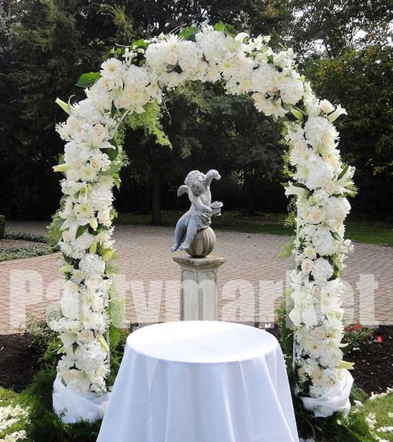 Wedding Arch Floral Decorations: 90 White Metal Arch Frame For Wedding Party Bridal Prom