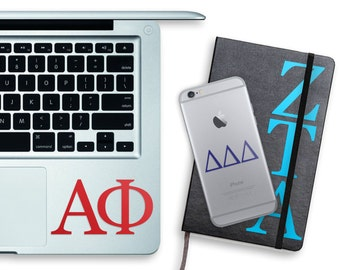 Individual Greek Letter Stickers